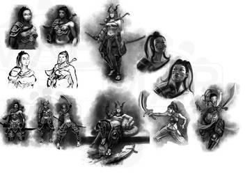 Dominance War Sketches by DanHowardArt