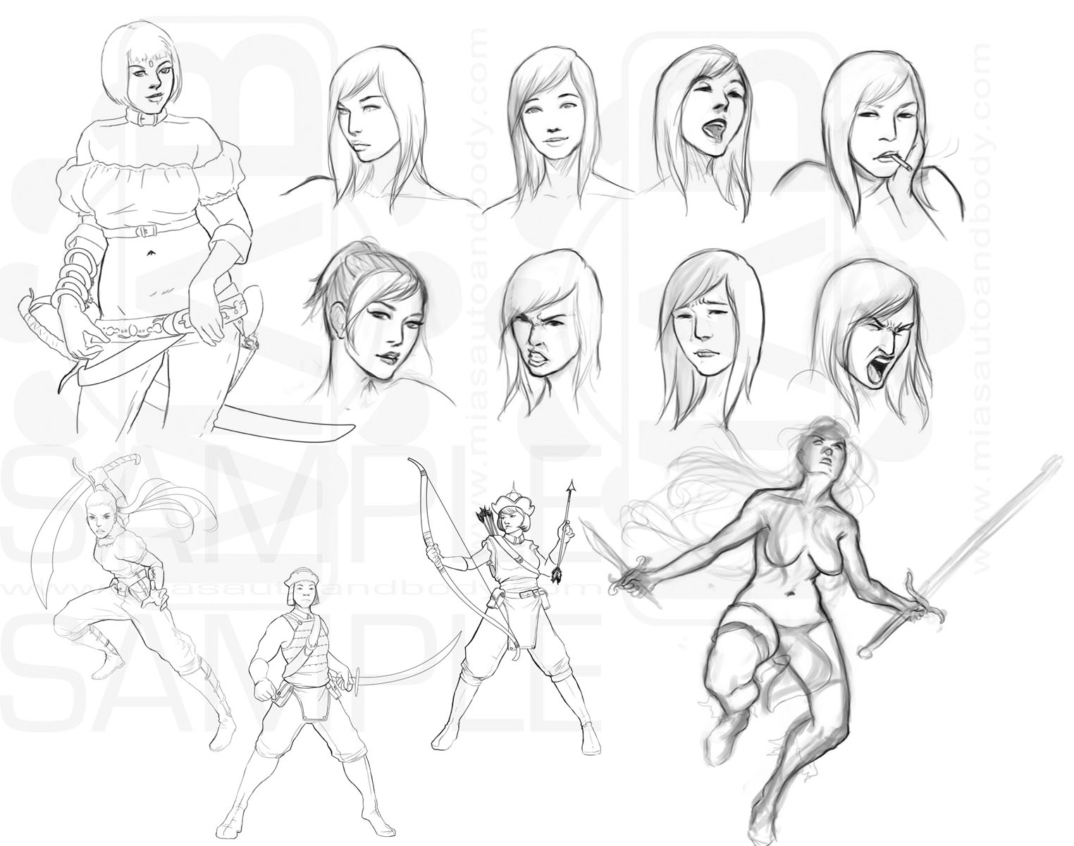 sketch dump XV by DanHowardArt