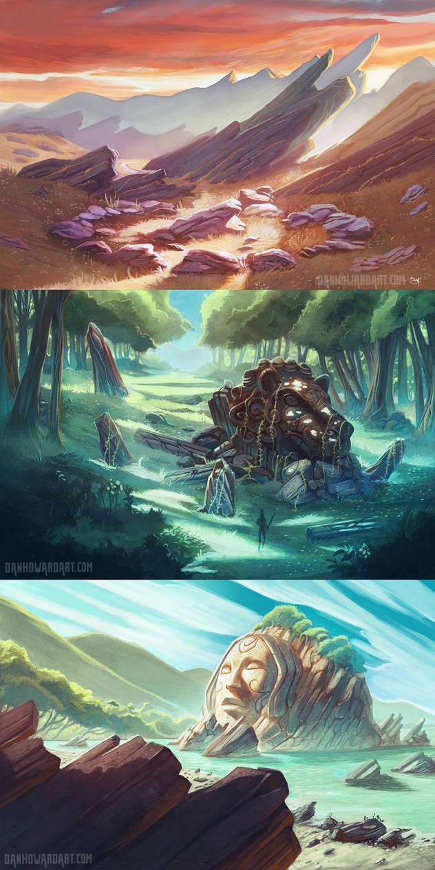Luminous Backgrounds by DanHowardArt