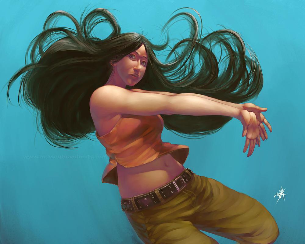 8. Best Wallpaper Digital Painting | Dancing Woman