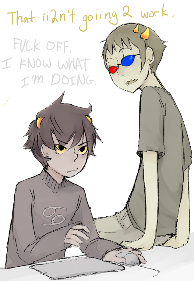 Sollux And Karkat Yaoi Sollux and karkat by fuocofuu