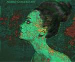 Green snow snake woman
