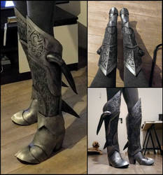 Skyrim daedric boots by Alcarie