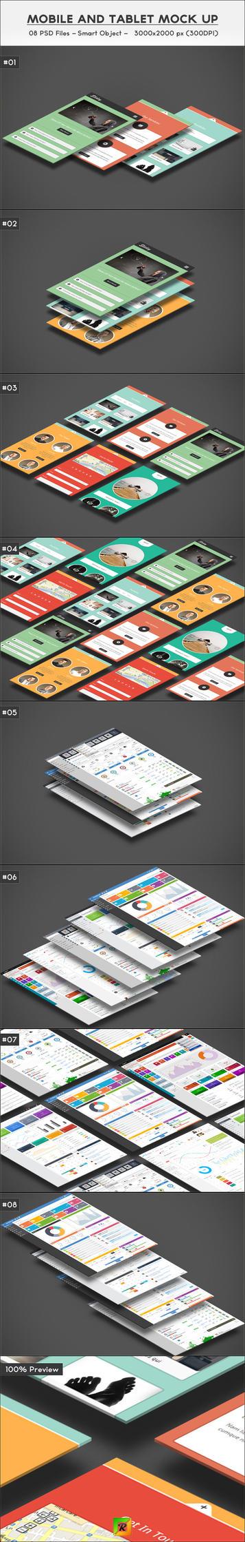 Mobile And Tablet Mock Up by R-DESIGNER