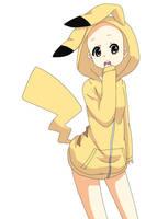 Girl in Pikachu-Hoodie Base by Hope-Bases-x3