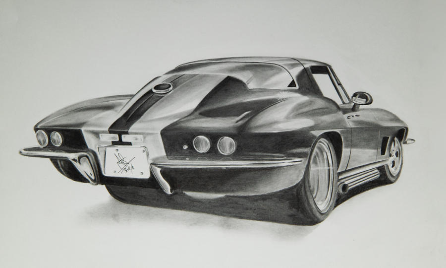 Pencil Drawings 68 Corvette Pencil Drawings