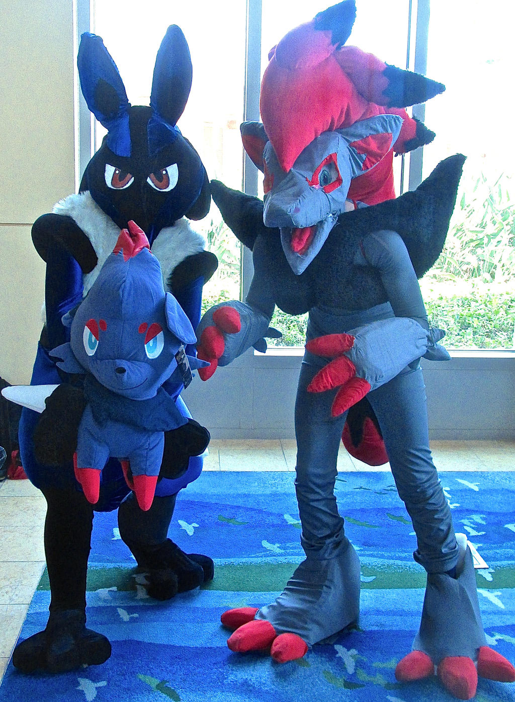 lucario and zoroark cosplay 2014 by ultrawolf001 on deviantart