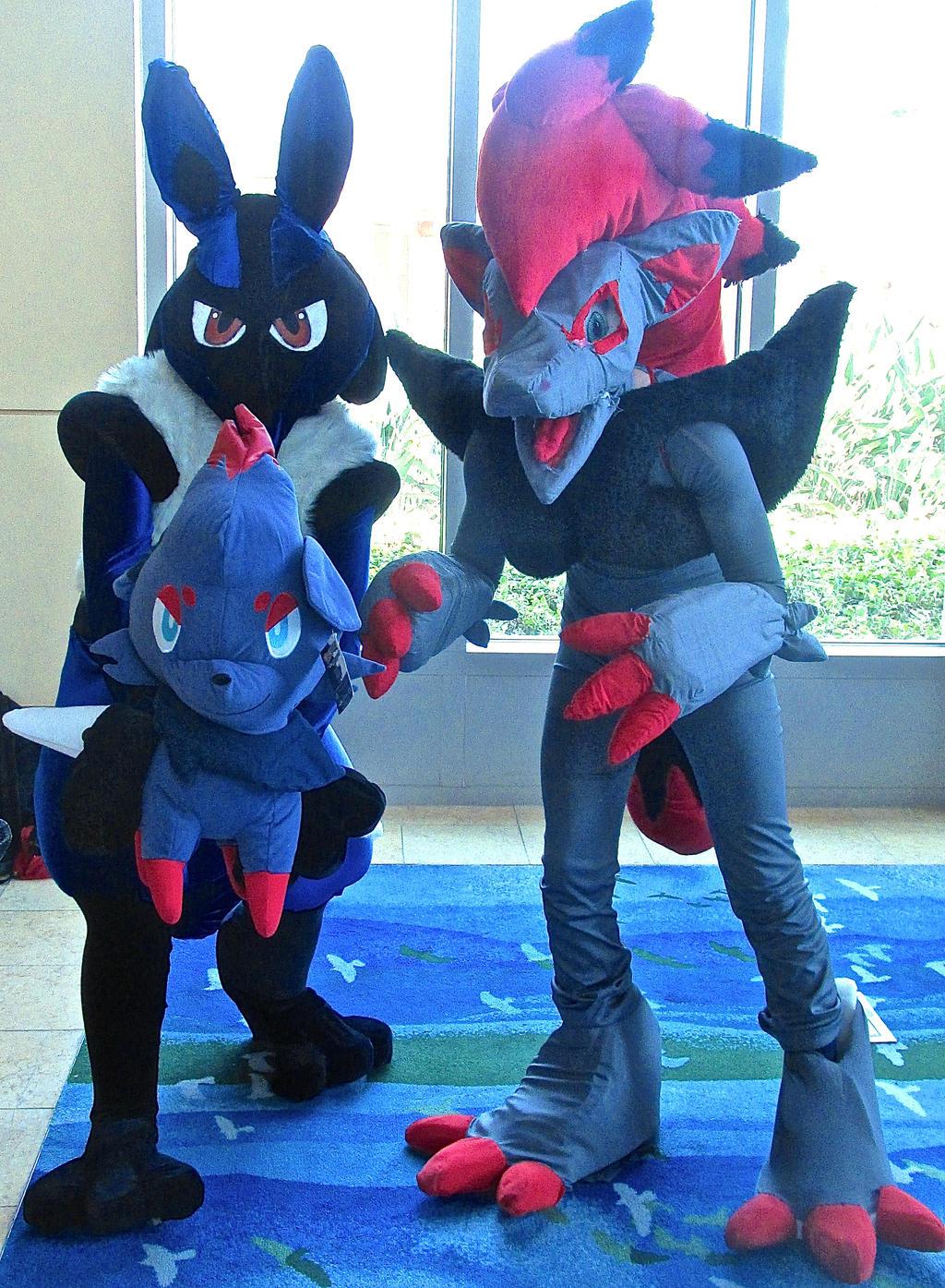 lucario and zoroark cosplay 2014 by ultrawolf001 on deviantart