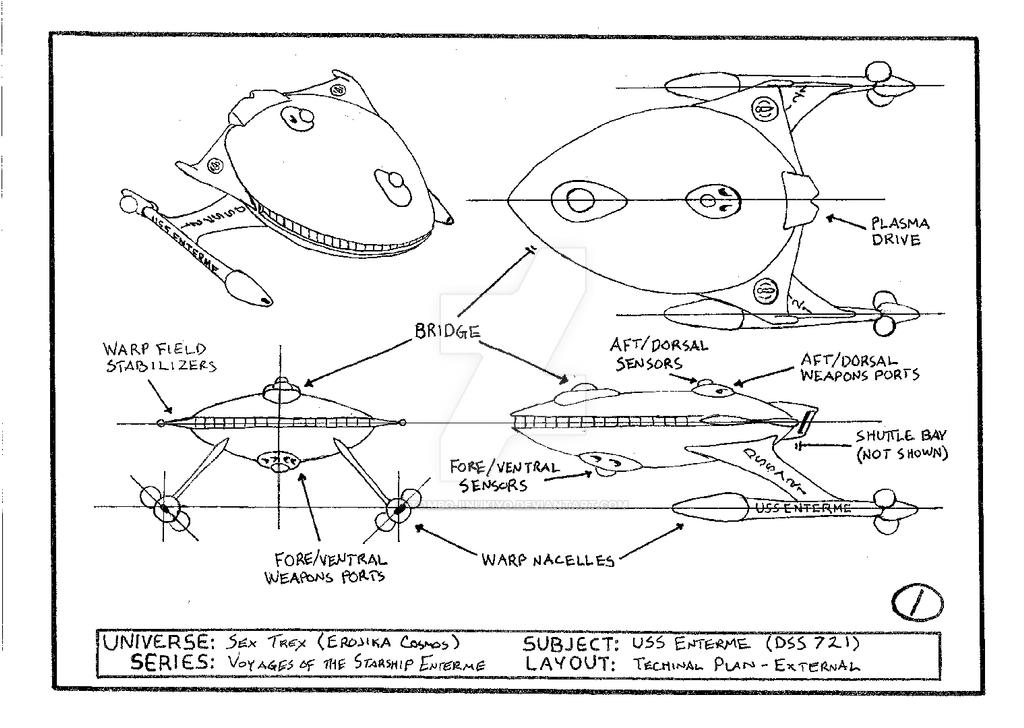 USS Enterme technical layout - external by cmfatemi
