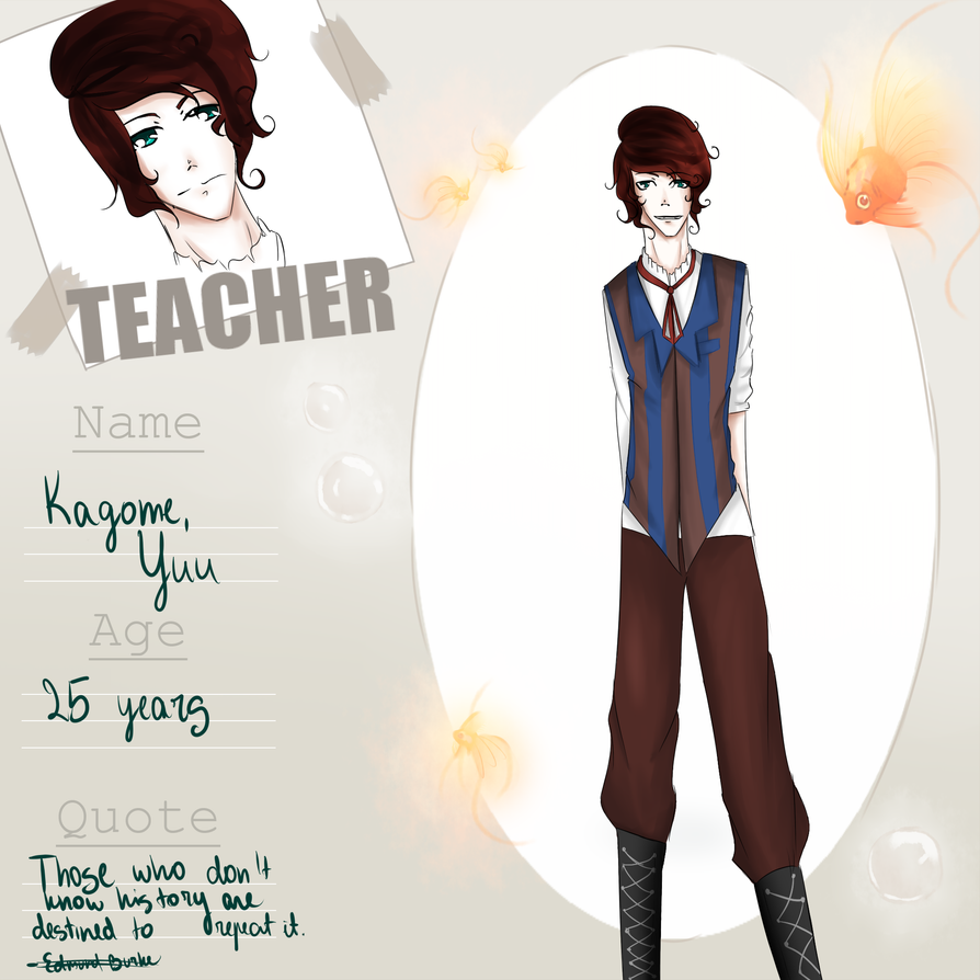 Kingyo High: History Teacher Kagome Yuu by Karikumik