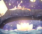 Aninktober Day 25_Lantern Release by YuuiSama