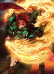 Kamado Tanjirou Danza del Dios del Fuego