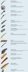 The variety of stem-bird feathers by Zhejiangopterus