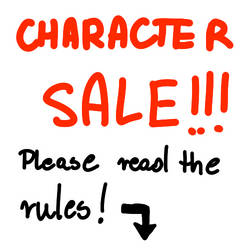 CHARACTER SALE by AFrozenHeart