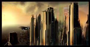 Futuristic City Scape by GenerationGX