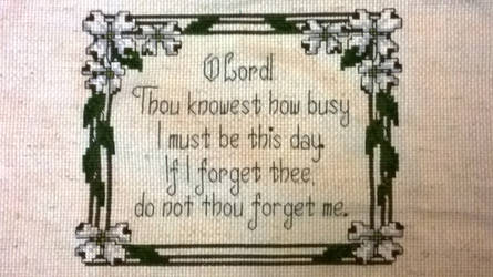 Cross Stitch for busy people