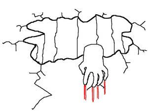 hand hanging on