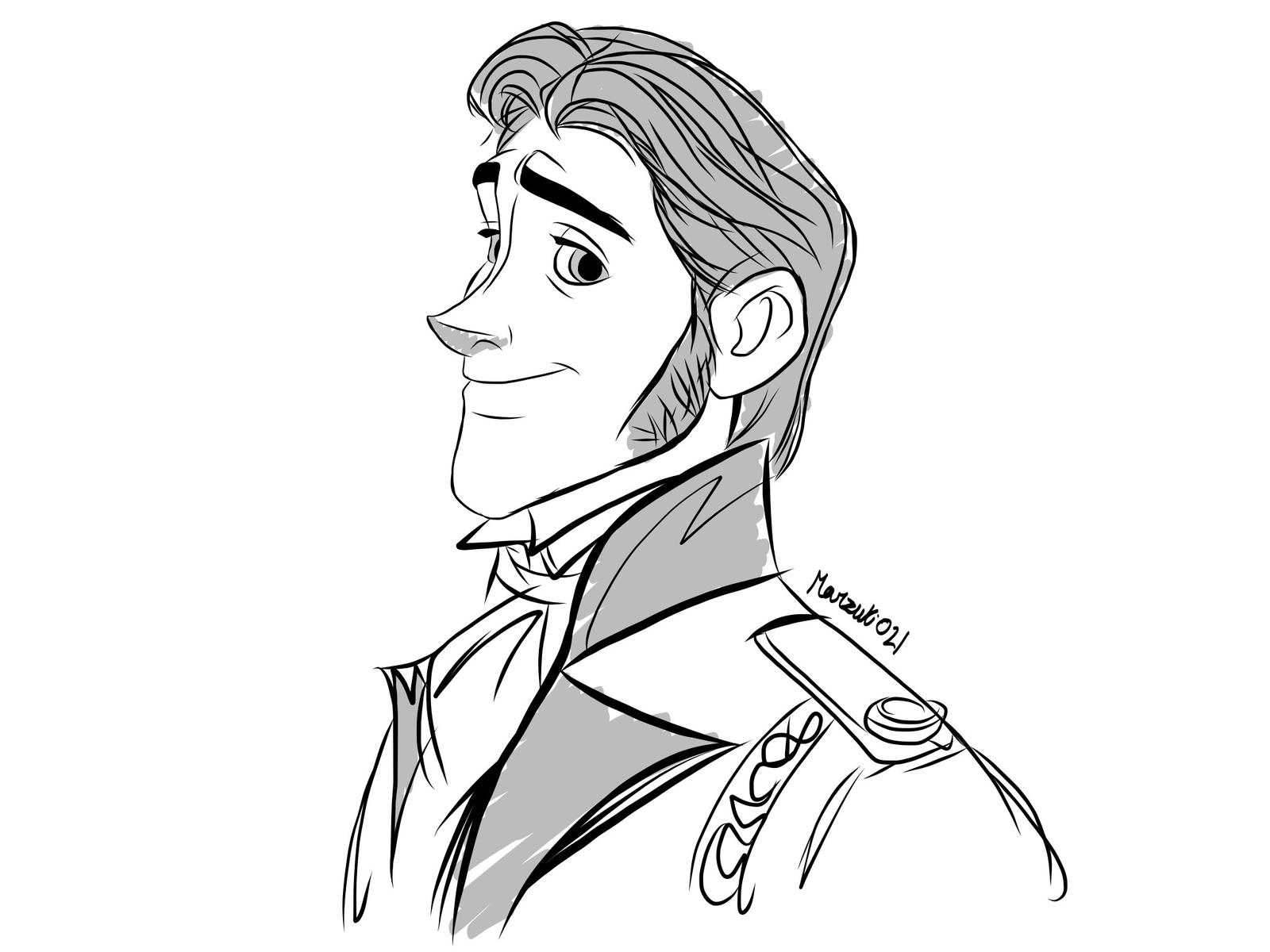 Prince hans frozen coloring pages - Prince Hans