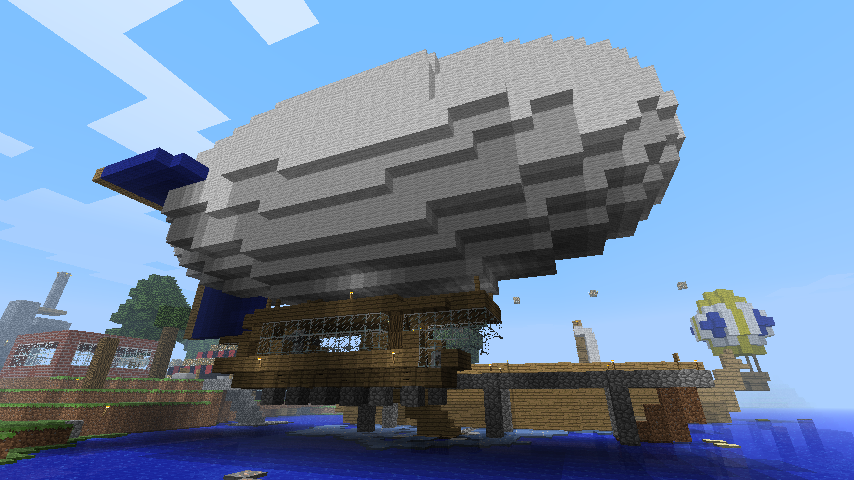 Minecraft airship by throwyouaway