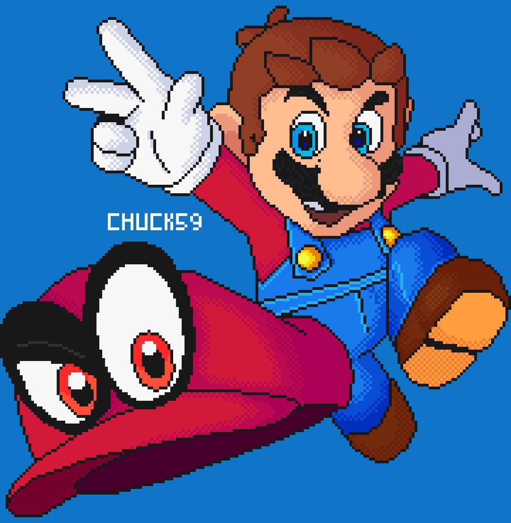 Mario Odyssey Pixel Art By Thatchuck59 On Deviantart