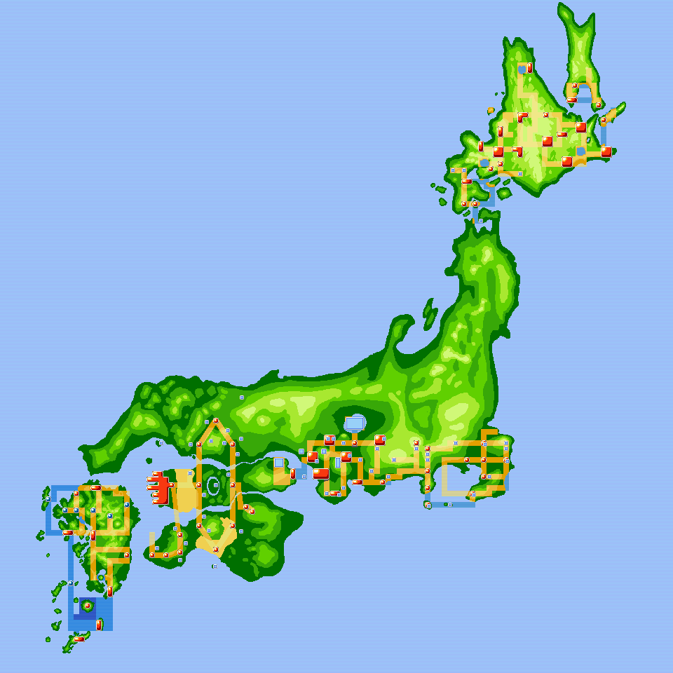 Extended Pokemon World, Japan by foxhead128 on DeviantArt on inuyasha map of japan, anime map of japan, cartoon map of japan,