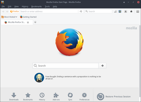 Firefox GTK+ native theme for Linux by foxhead128