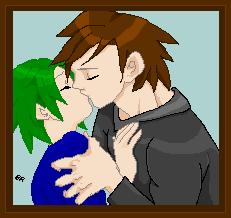 Vlalan and Elle Kissing by watashiveracasan