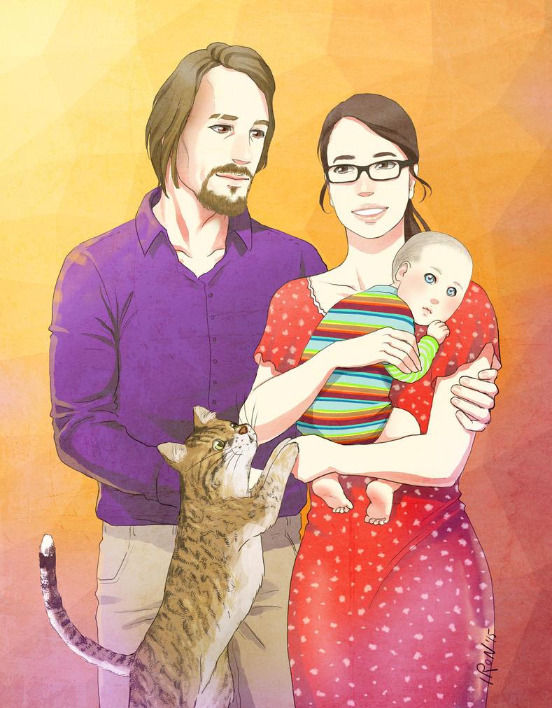 Family portrait II by meteoric-iron