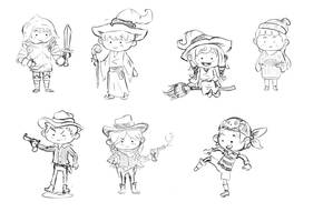 Chibis by Marcos-A-Rodrigues
