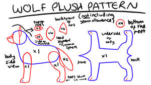 wolf plush template