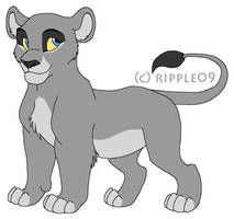 FREE Lion Cub Line Art by ripple09