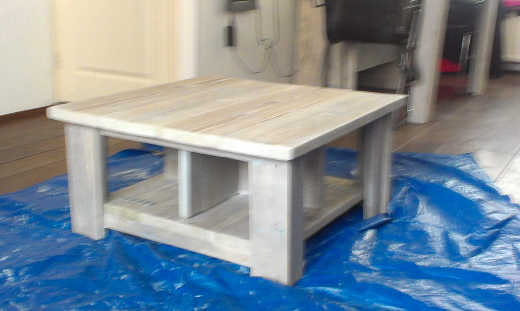 White Washed Square Kitchen Table