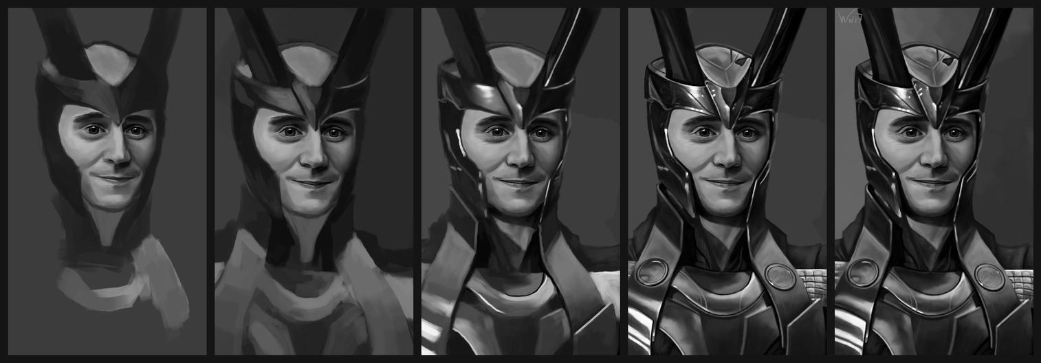 Smiling Loki Tutorial by White-Night-56