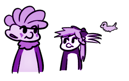 Monochrome purple by KariKurai
