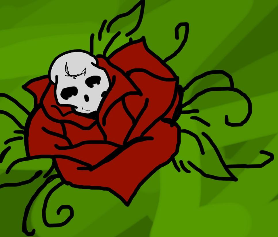 Skull and rose by rockin anime on deviantart