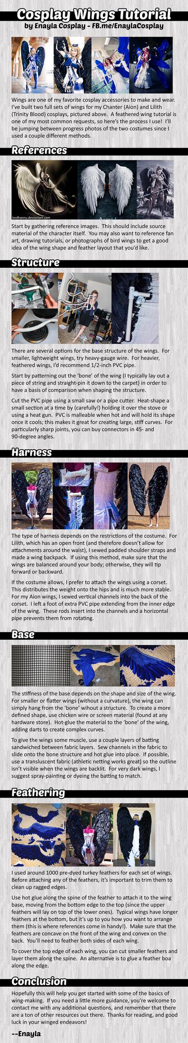 Cosplay Wings Tutorial by elliria