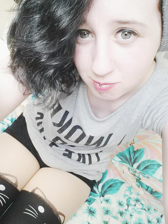 Conversations! Selfie girl with lip piercing necessary