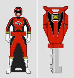 Ranger Key - Astro Surge Red Ranger by Gekiblack