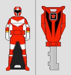 Ranger Key - Zeo Squadron Red Ranger by Gekiblack