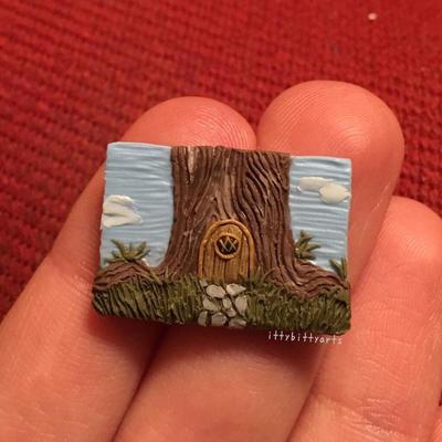 Miniature Fairy Door Scene  by IAmBadAtUsernames