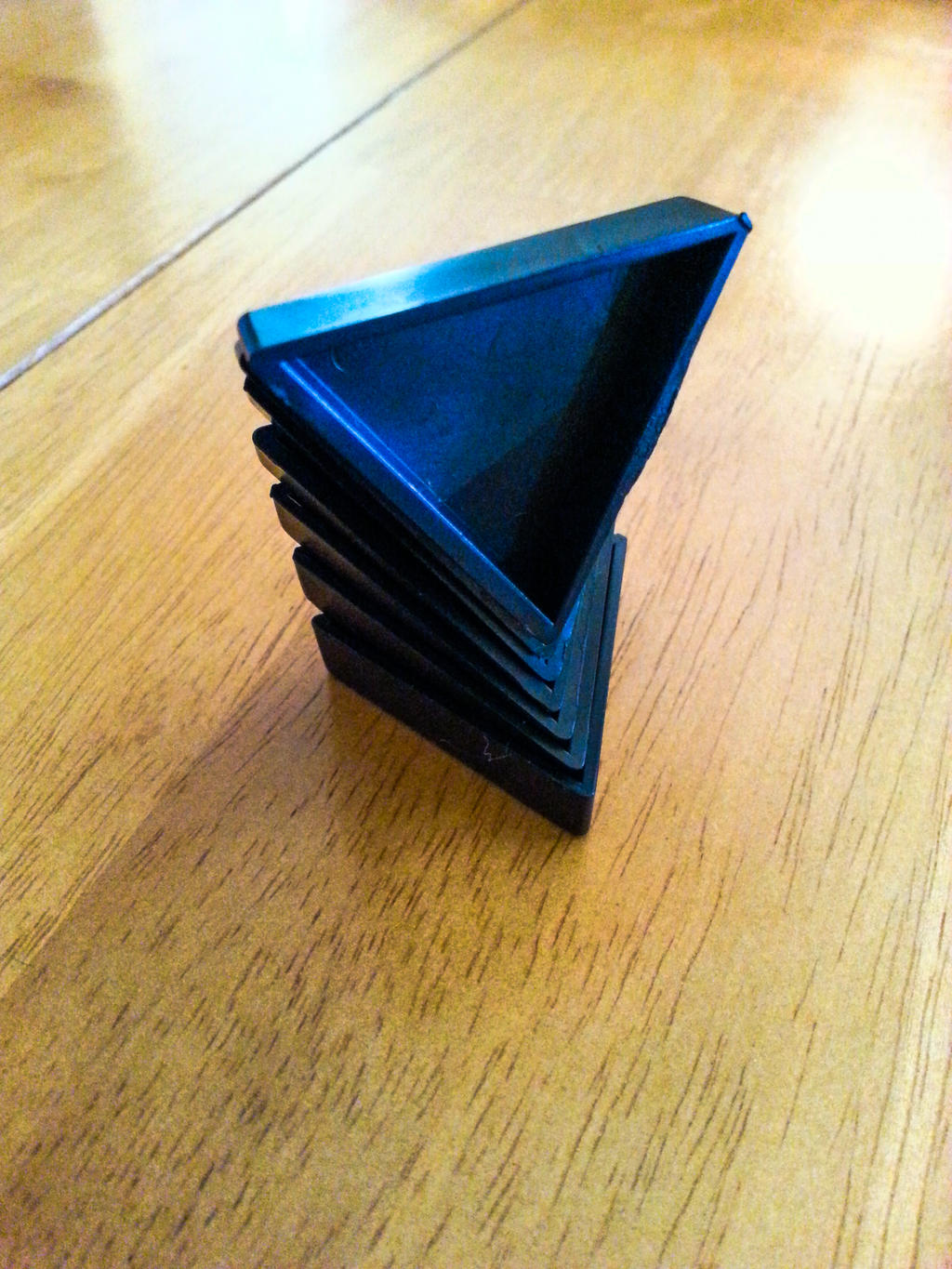 Triominos sculpture- Triangle tower by MrDannyD