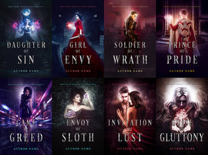 7 Deadly Sins Premades Book Covers Pack