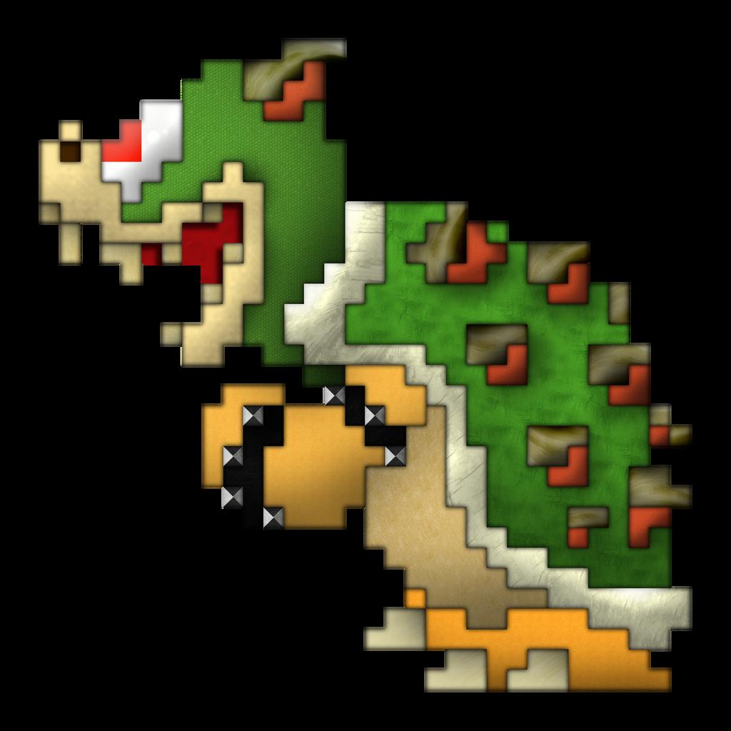 Super Mario Bros Bowser 8-bit pixel art bead sprite by ...