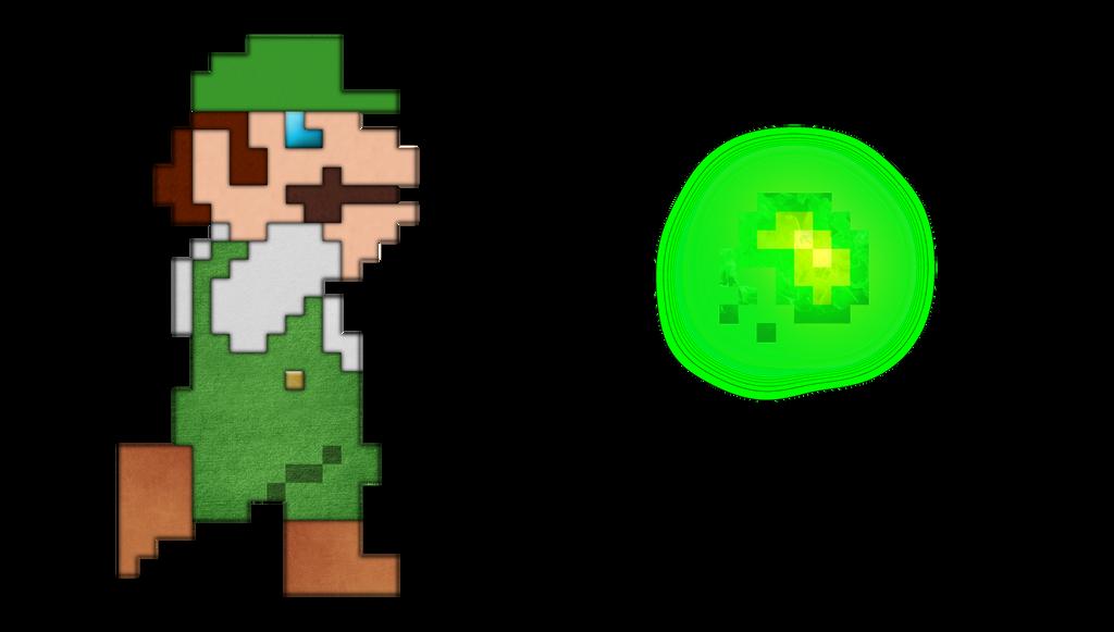 Luigi 8 Bit Jumping images  Hdimagelib