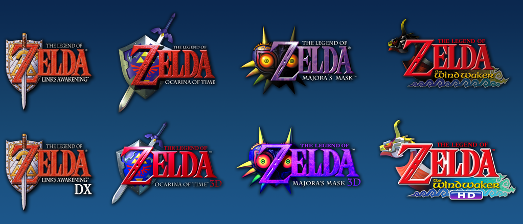 Legend Of Zelda Remake Logos By BrulesCorrupted