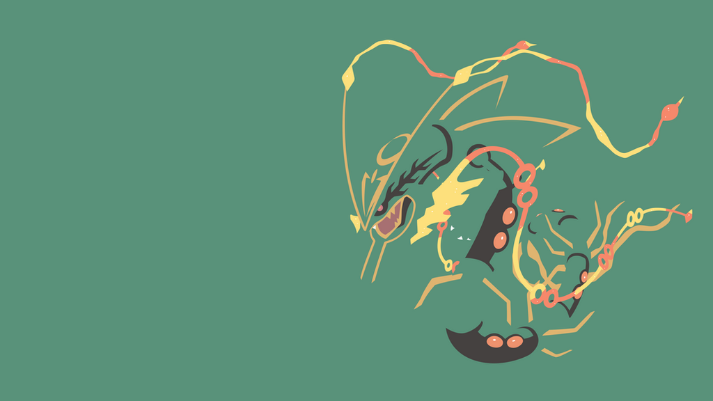 Mega Rayquaza Minimalist Wallpaper By BrulesCorrupted