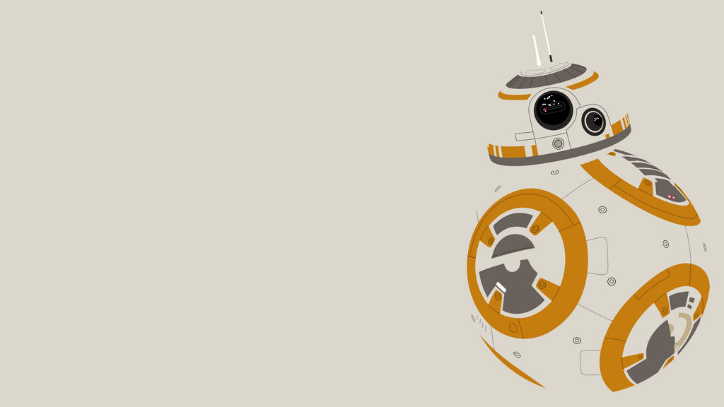 BB 8 Minimalist Wallpaper By BrulesCorrupted