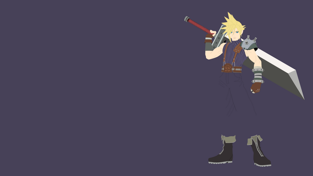 cloud strife minimalist wallpaper by brulescorrupted on