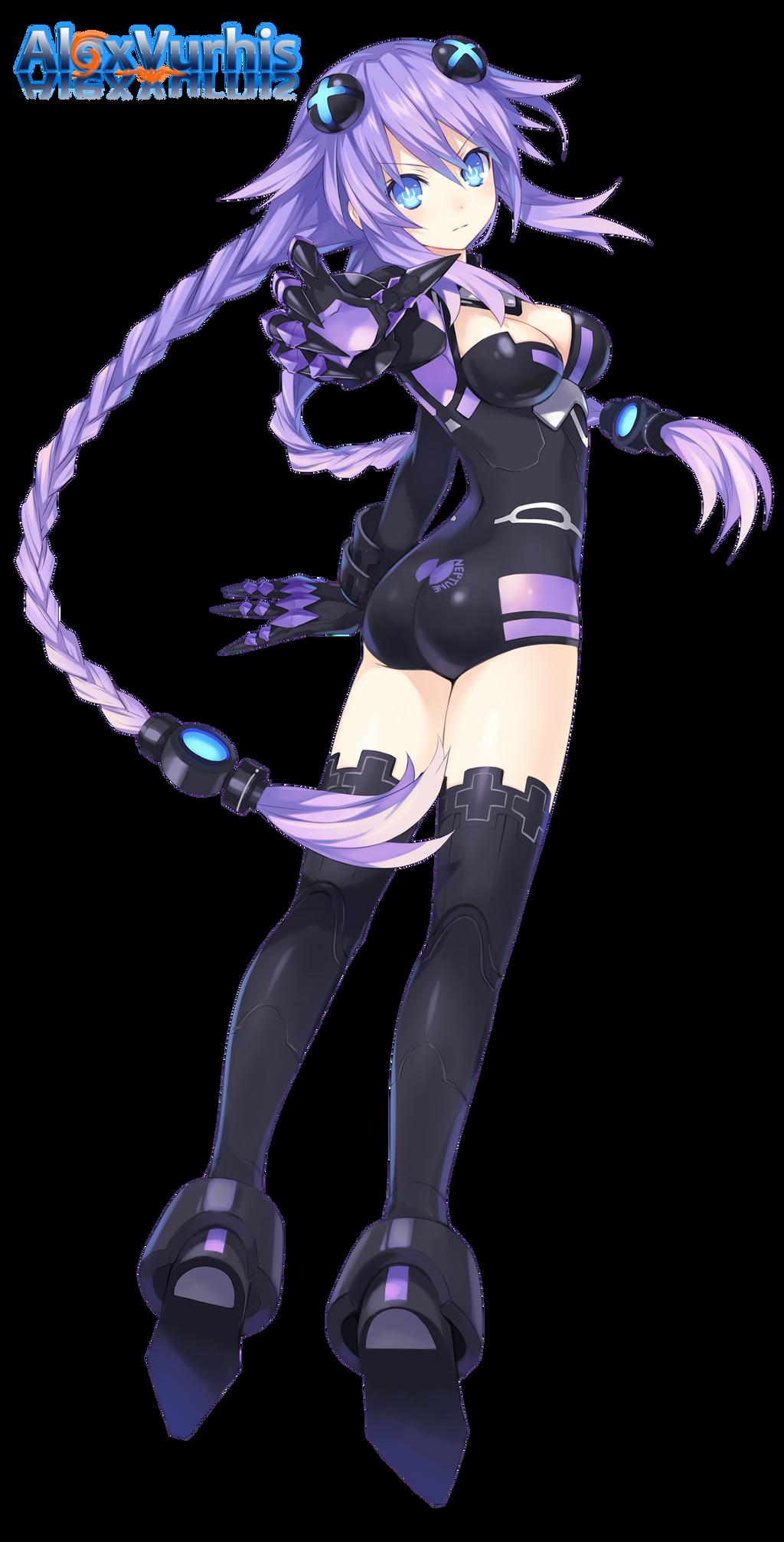 Hyperdimension Neptunia Re Birth 1 Purple Heart By Alexvurhis On