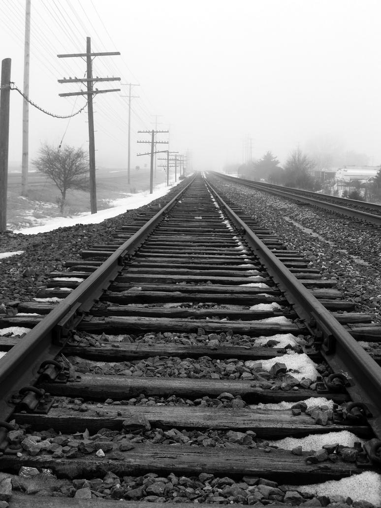 Levers Train Tracks O N : Dramatic railroad tracks by fullofsecrets on deviantart